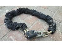 Squire motorcycle security chain and lock very heavy duty