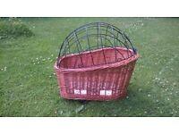 Basil Wicker Dog Bike Basket - medium