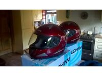 2 new moterbike helmets
