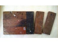 Reclaimed oak parquet floor tiles