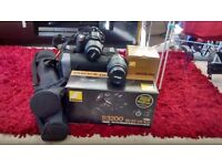 Nikon D3200 Digital SLR Camera with 18-55mm VR Lens Kit. Comes all boxed,tripod, carrycase + more!!