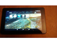 Amazon fire 5th gen tablet fully working with kodi on and power supply