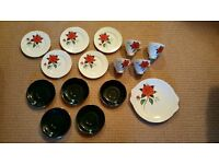 Part Complete Vintage 1950's Royal Albert 'Tahiti' Tea Set