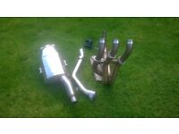 Triumph 675 Exhaust system ( under seat silencer )
