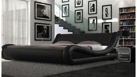 Italian design double bed