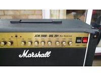 Marshall DSL201 - 20 Watt Valve guitar amplifier - speaker upgrade.