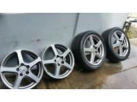 "4x 17"" Genuine Honda Accord Penta alloy wheels 5x114.3 civic nissan elgrand 3673"