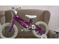 kids bike with bell and stabilizes