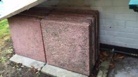 Patio paving slabs - Quantity x 16 measuring 600 mm x 600 mm