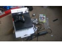 console x box 360 , hd 500 gb used 10 times from new