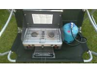 Camping stove( 2 burner with grill)