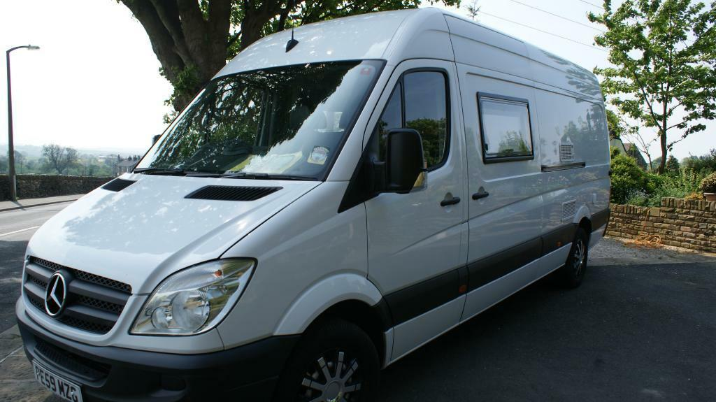 2009 mercedes sprinter motorhome campervan with large for Motorhome with large garage