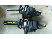 Mcculloch petrol chainsaws spares or repairs