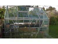 Aluminium and Glass 8 x 6 Greenhouse