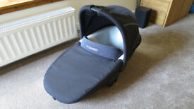 Maxi-Cosi carry cot (black) for pushchair, with raincover
