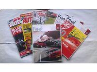 7 Car Magazines, 2 Alfa Romeo owners club 2013, 2 Autosport 2002 & 2007, 2 Alfa Romeo Feel 2009
