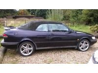 SAAB 900 R reg 1997 PURPLE CONVERTIBLE ONLY 86,000 M BARGAIN ONLY £395