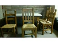 Free delivery table and 4 chairs