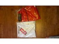 bjorn borg tennis kit polo shirt medium and red skirt large all new with tags