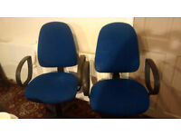 £10 each office computer chairs for sale -2 available ! fully adjustable (tilt, height & back)