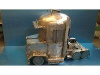 custom wood burner cool ametican truck design look !!!!
