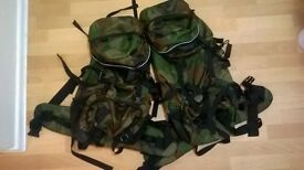 2x army style rucksacks 50litres