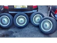 "BMW BBS STYLE 15"" ALLOY WHEELS X 4"