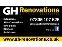 GH Renovations - Joiner and builders - Extensions - refurbishments - kitchens and bathrooms