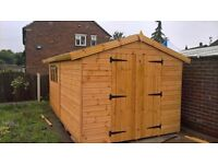GARDEN SHEDS AND SUMMER HOUSES BESPOKE MADE TO MEASURE FREE INSTALL NATIONWIDE DELIVERY