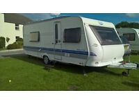 Hobby Prestige 560 caravan with awning - 2009
