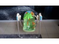 LOVELY RAINFOREST BABY SWING WITH SOUND A MOVEMENT SETTINGS