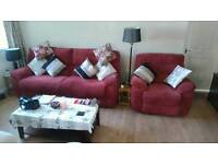 Settee and single recliner
