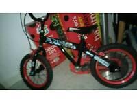 Boys pedal bike