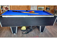 Pool Table 7'x4' overall size (6'x3' playing area)
