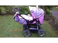Pascal Pink buggy / pram excellent condition