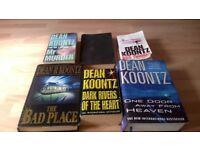 6 DEAN KOONTZ BOOKS FOR SALE
