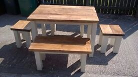 MADE BY HAND TV UNITS,BEDS,DINING/COFFEE TABLES,SIDEBOARD,DRESSER,GARDEN&PATIO BENCHES FROM £49