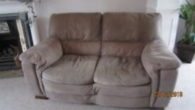 3 seater and 2 seater leather settees