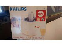 Philips HR1851 Juice Extractor - White (Brand new, Unopened)