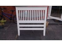 Headboard white for a single bed very good condition