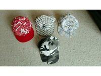 Baseball caps x 4