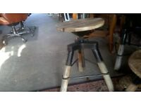 French Wine Barrel Top Stools and Table