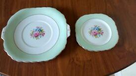 ART DECO VINTAGE 6 TEA PLATES & 2 SERVING PLATES