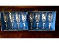 4 La Rochelle Cristal de Flandre Flutes 14.5cl