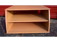 TV Unit Light Wood effect Sturdy with 3 Shelves and Matching Corner Unit with 3 Shelves
