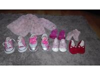 Girls shoes and trainers and coat