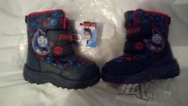 Jones bootmaker Thomas tank engine toddler snow boots size 6 new with tags