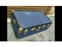 Large Vintage Retro Style Trunk / Suitcase