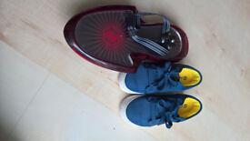 Blue Canvas Heelys + Nano Board