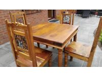 Table and chairs £90